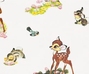 50s, bambi, and cartoon image