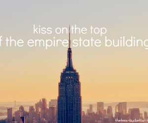 kiss, love, and empire state image