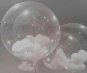 aesthetic, balloons, and clouds image