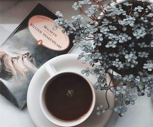 book, plants, and tea image