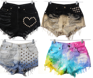 dip dye, fashion, and high waisted image