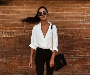 black, blouse, and fashion image
