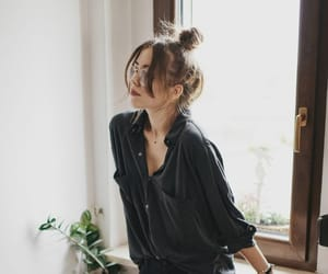 black, blouse, and nature image