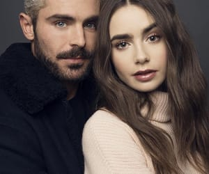 zac efron, lily collins, and movie image