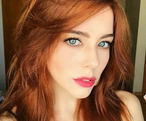 eyes, redhead girl, and ginger image