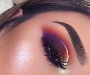 beauty, lashes, and color image