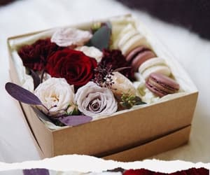 box, flowers, and gifts image