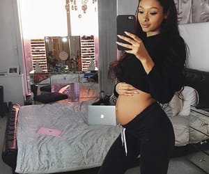 girl, pregnant, and cute image