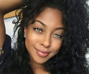 black girl green eyes image