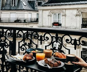 breakfast, coffe, and croissant image