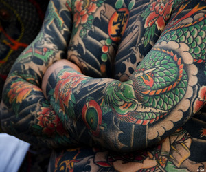 tattoo, colorful, and cool image