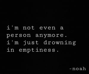 black, drowning, and emptiness image