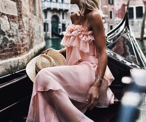 blonde, pink, and boat image