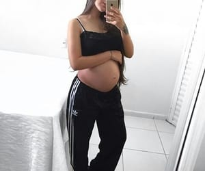 pregnant, adidas, and baby image