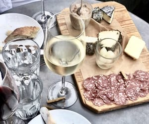 cheese, drinks, and food image