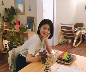 actress, cafe, and cake image