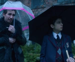 NUMBER 5, number 4, and the umbrella academy image