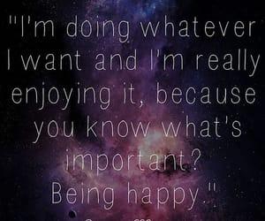 happy, purple, and quote image
