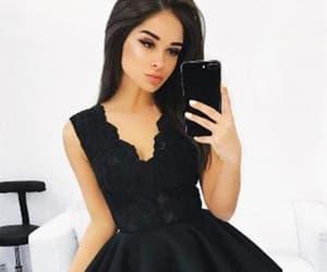 dress and v-neck homecoming dress image