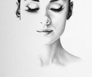 drawing, art, and audrey hepburn image