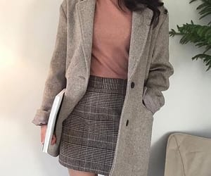 coat, mode, and koreanstyle image