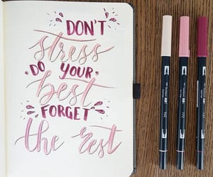 pink, quotes, and writing image