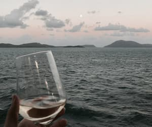 beautiful, evenings ocean wine, and sunset afternoon peaceful image