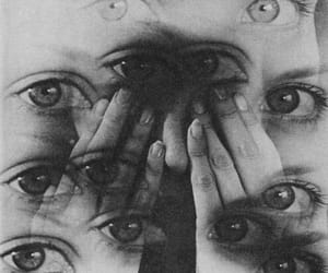 eyes, black and white, and b&w image