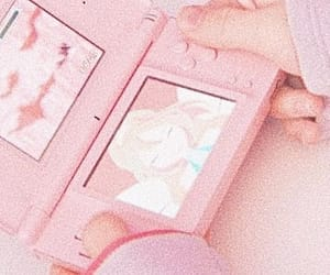 kawaii, pastel pink, and pink ds image