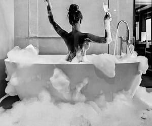 bath, champagne, and live image