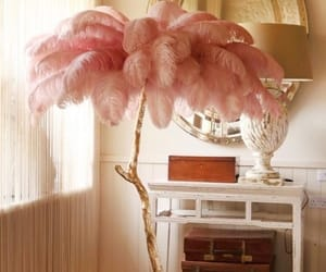 decor, gold, and pink image
