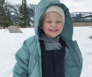 kids, baby, and snow image