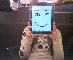 funny face, ipad, and @karoreis image