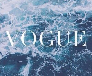vogue, blue, and sea image