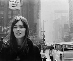 francoise hardy, black and white, and vintage image