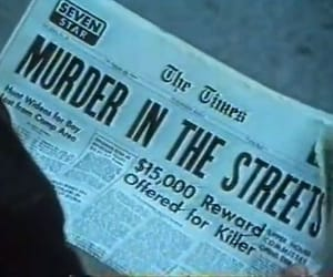 murder, aesthetic, and newspaper image