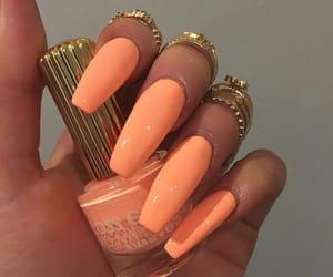 nails, orange, and goals image