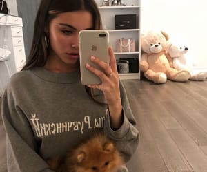 madison beer, beauty, and dog image