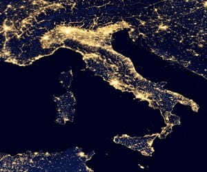 lights, italy, and night image