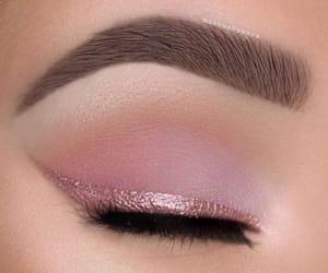 makeup, pink, and eyeshadow image