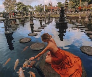travel, water, and dress image
