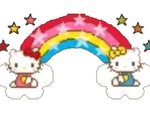 hello kitty, png, and rainbow image