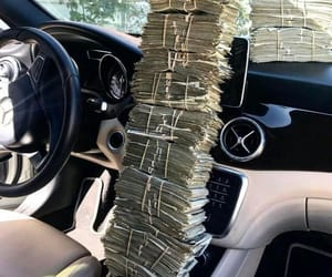 money, car, and cash image
