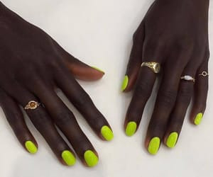 nail art, nails, and neon image