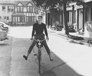 audrey hepburn, vintage, and bike image