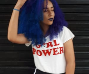 black, blue, and bluehair image