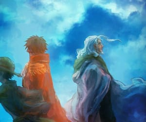 one piece, luffy, and rayleigh image