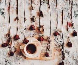 coffee, roses, and mug image