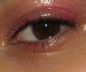 eye makeup, pink, and retro image
