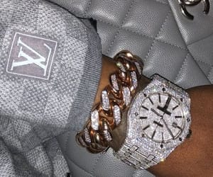 luxury, diamond, and watch image